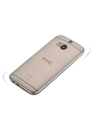 Microsonic Htc One M8 Clear Soft Şeffaf Kılıf Renkli